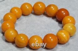 Antique Baltic High Class Natural Amber Bracelet 34 G Fedex Fast Shipping
