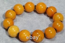 Antique Baltic High Class Rare Natural Amber Bracelet 34 G Fedex Fast Shipping