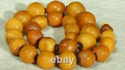 Antique Baltic Natural Amber Collectible Necklace 53 G Fedex Shipping