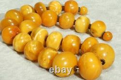 Antique Baltic Natural Yellow Amber Necklace 106 G Last Century Amber Necklace
