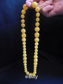 Antique Baltic natural Butterscotch amber necklace