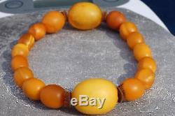 Antique Baltic natural amber hand bracelet 13 g. FEDEX EXTRA FAST SHIPPING