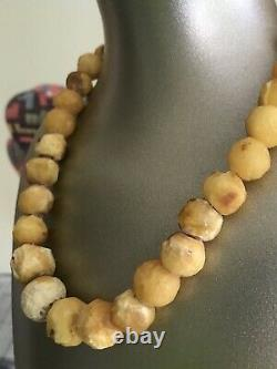 Antique Beautifully Natural Russian Baltic Egg Yolk Butterscotch Amber Necklace