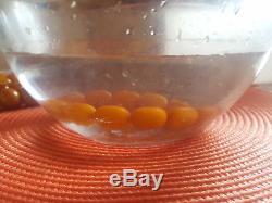Antique Egg Yolk Butterscotch Natural Baltic Amber Necklace Hupo vintage