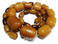 Antique Egg Yolk Butterscotch Natural Baltic Amber Necklace beads