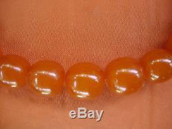 Antique Egg Yolk Butterscotch Natural Baltic Sea Amber Necklace 73 Gramms