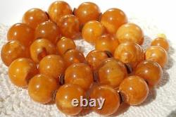 Antique German rare pressed baltic amber necklace 72 g FEDEX EXTRA FAST SHIPPING