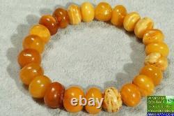 Antique High Class Baltic Natural Amber Bracelet 18 G. Dhl 4-5 Days Worldwide