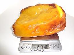 Antique Huge Natural Butterscotch Egg Yolk Baltic Amber Stone 434 Grams