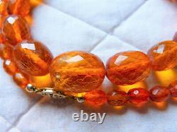 Antique Königsberg cut natural Baltic amber Necklace, 28 g