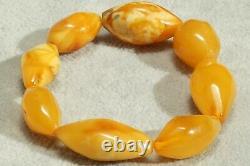 Antique Men Women Natural Baltic Amber Hand Bracelet 17 Grams