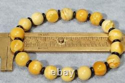 Antique Natural Authentic Baltic Amber Yellow White Color Bracelet 10 Grams