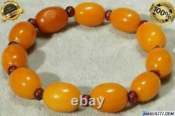 Antique Natural Authentic Baltic Europe Amber Bracelet 16 Grams