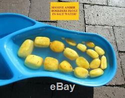 Antique Natural BALTIC AMBER Butterscotch Egg Yolk Necklace 198 GRAMS