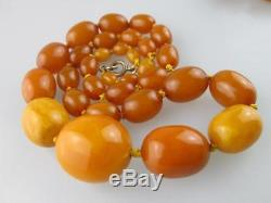 Antique Natural Baltic Amber Beads Necklace 70 grams