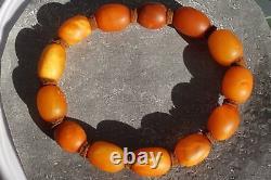 Antique Natural Baltic Amber Bracelet 15 G Hand Men Women Amber Bracelet