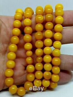 Antique Natural Baltic Amber ISLAMIC 99 PRAYER BEADS ROSARY Butterschotch 32.16g