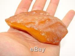 Antique Natural Baltic Egg Yolk Butterscotch Amber