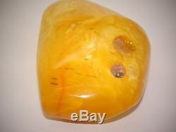 Antique Natural Baltic Egg Yolk Butterscotch Amber 154 Grams