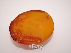 Antique Natural Baltic Egg Yolk Butterscotch Amber 20.5 Grams