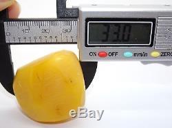 Antique Natural Baltic Egg Yolk Butterscotch Amber 24.9 Grams