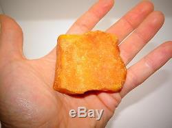 Antique Natural Baltic Egg Yolk Butterscotch Amber 57.4 Grams