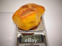 Antique Natural Baltic Egg Yolk Butterscotch Amber 57.9 Grams