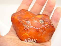 Antique Natural Baltic Egg Yolk Butterscotch Amber 75.9 Grams