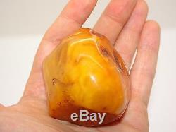 Antique Natural Baltic Egg Yolk Butterscotch Amber 82.6 Grams