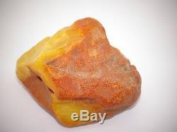 Antique Natural Baltic Egg Yolk Butterscotch Amber 90.7 Grams