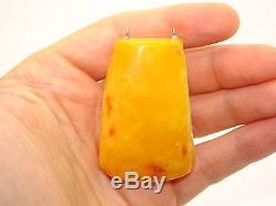 Antique Natural Baltic Egg Yolk Butterscotch Amber Pendant