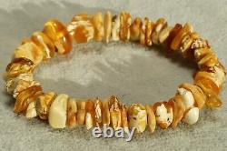 Antique Natural Baltic High Color Class Amber Bracelet 11 Grams