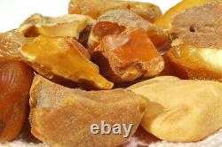 Antique Natural Baltic Yellow White Color Amber Stones 153 G