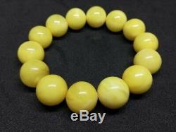 Antique Natural Baltic #amber bracelet Egg Yolk White