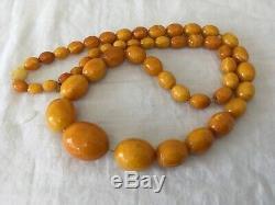 Antique Natural Butterscotch Baltic AMBER Necklace. 65g
