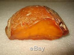 Antique Natural Butterscotch Baltic Amber Stone 128 gr