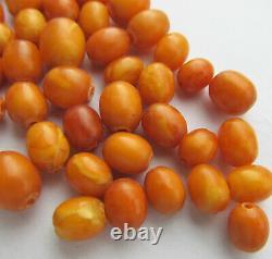 Antique Natural Butterscotch Egg Yolk Baltic Amber Beads 11g