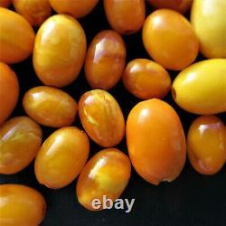 Antique Natural Butterscotch Egg Yolk Baltic Amber Beads 20.1g