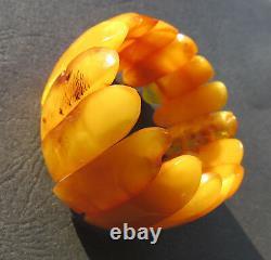 Antique Natural Butterscotch Egg Yolk Baltic Amber Bracelet 52.3g