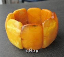 Antique Natural Butterscotch Egg Yolk Baltic Amber Children Bracelet 25.7g
