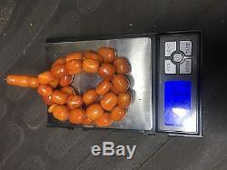 Antique Natural Butterscotch Egg Yolk Baltic Amber Round Prayer Bead 68.5 G