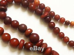 Antique Natural Butterscotch Yolk Baltic Amber Beads Rosary 1850 Very Old 70 gr