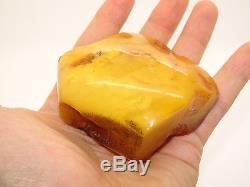 Antique Natural Egg Yolk Butterscotch Baltic Amber