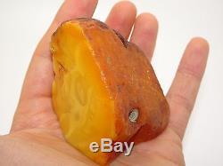 Antique Natural Egg Yolk Butterscotch Baltic Amber 84.2 Grams