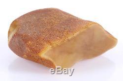Antique Natural Egg yolk Butterscotch Baltic amber stone, 81.80 grams