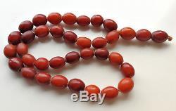 Antique Old Islamic Butterscotch Egg Yolk Natural Baltic Amber 36 Prayer Beads