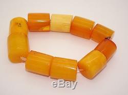Antique Old Natural Baltic Egg Yolk Butterscotch Amber Bracelet