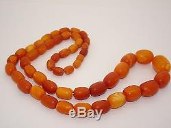 Antique Olive Old Natural Baltic Egg Yolk Butterscotch Amber Very Good Color