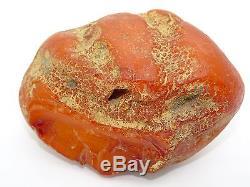 Antique Round Natural Baltic Egg Yolk Butterscotch Amber 127.3 Grams