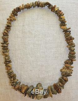 Antique Very Old Huge Gorgeous Dark Cherry Natural Baltic Amber Necklace 137 Gr